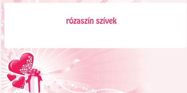 rózsaszín szívek terméksablon